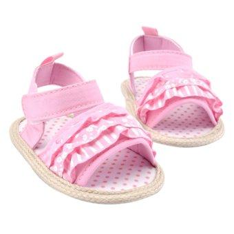 Gadis Bayi Sol Lembut Membungkus Sepatu Putri (Berwarna Merah Muda)