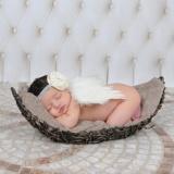 Bayi Gadis Sayap Malaikat Wing Set Bulu Baru Lahir Fotografi Alat Peraga-Internasional - 3