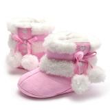 Bayi Perempuan Ikatan Simpul Sepatu Bot Salju Musim Dingin (Berwarna Merah Muda) - 2 ...
