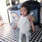 ... Bayi Girls Renda Decor Baju Monyet Sleeveless Fashion Indah Sablon Jumpsuit-Intl - 3 ...