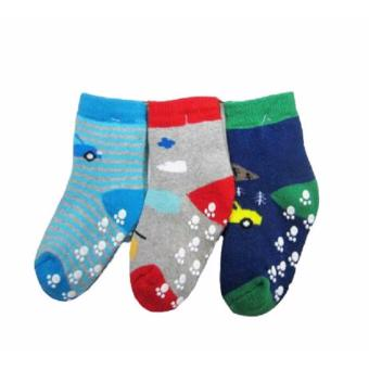Baby Grow Socks Car 3in1 Packs Girls - Set Kaos Kaki Bayi Isi 3 Pasang