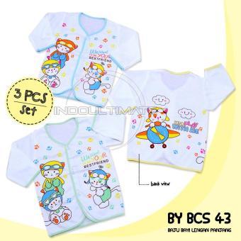 BABY LEON Baju Baju Bayi Lengan Panjang isi 3 / Atasan Bayi Lengan Panjang isi 3
