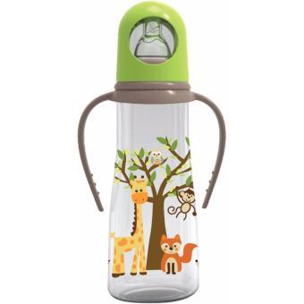 Baby Safe JP005 Feeding Bottle with Handle 250ml Green Hijau Jerapah Giraffe Botol Susu Anak Bayi