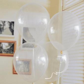balon transparan 20 pcs - balon latex bening - balon helium dekor transparan