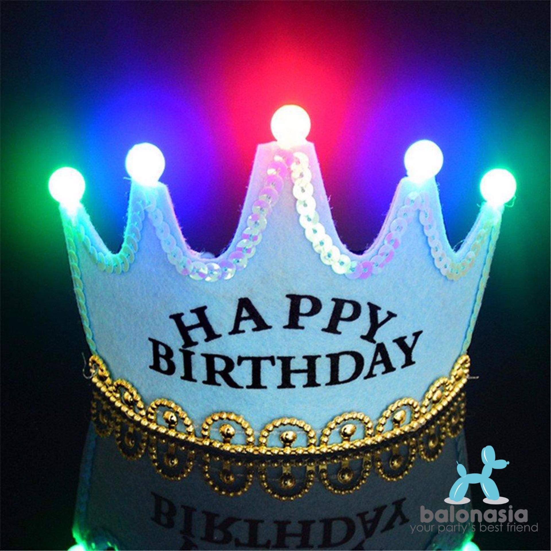Balonasia 6 Pcs Lot Bunga Kertas Fan Tissue Kerajinan Dekorasi Backdrop Set Ulang Tahun Garis Polkadot Hot Deals Crown Led Happy Birthday Biru Untuk Pesta Terbaik Murah Hanya