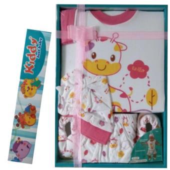 BB Mart Kiddy Baby Gift Set Funny Giraffe Pink 11157 - Set pakaian Bayi