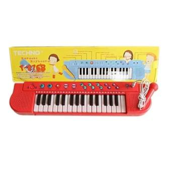 BB Mart Techno Karoke Keyboard T-2768 - Mainan Piano Karoke Lagu Indonesia