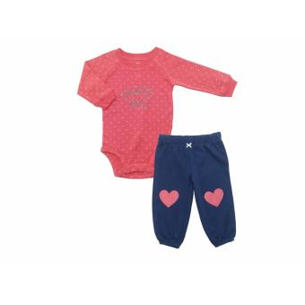 Bearhug 2 Pieces Set Bayi Perempuan 6-18M Daddy Girl Pink