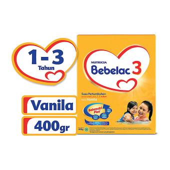 harga Bebelac 3 Bebenutri Plus Susu Pertumbuhan - Vanila - 400 gr Lazada.co.id