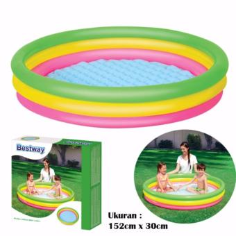 Bestway 51103 Rainbow Pool Kolam Renang Anak 3 Ring 152cm