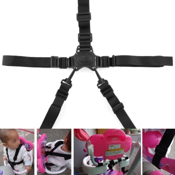 Big Family:Durable Baby Mother Activity Supplies 5 Point Harness Car Baby Stroller Safety belt