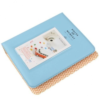 BolehDeals 64 Pockets 3inch Book Photo Album Pages for Mini Fuji Instax Polaroid Blue - intl