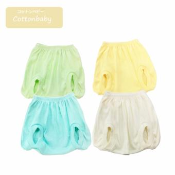 Cotton Baby Pop Pants Set 4 Pcs - Pastel Color