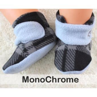 CUDDLE ME BABY BOOTIES Monochrome - Sepatu Bayi 0-6 Bulan