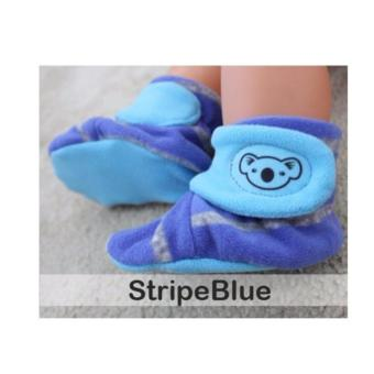 CUDDLE ME BABY BOOTIES - Stripe Blue