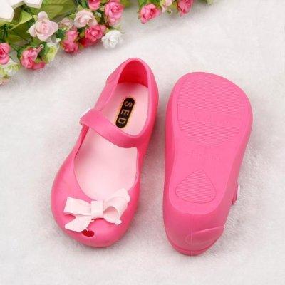 ... Lucu Bayi Perempuan Anak Rinci Jelly Bowknot Ikan Mulut Sandal Sepatu-Internasional - 3 ...