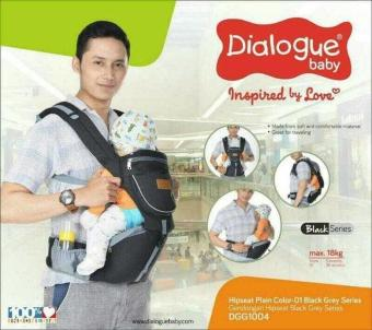 harga Dialogue Baby Gendongan Bayi Hipseat Black Series DGG1004 Lazada.co.id