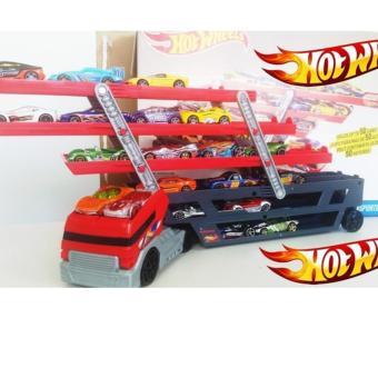 Diecast Miniatur Truck Hot wheels Mega hauler