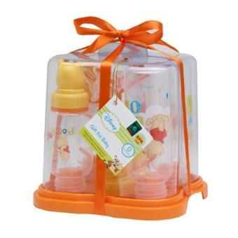 Disney Baby Pooh Drying Rack Set Plus Bottles Tempat Pengering Botol (Kuning)