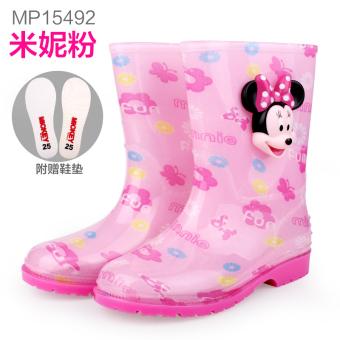 Disney Hadapan musim semi dan musim panas dan musim gugur baru sepatu anak anak hujan