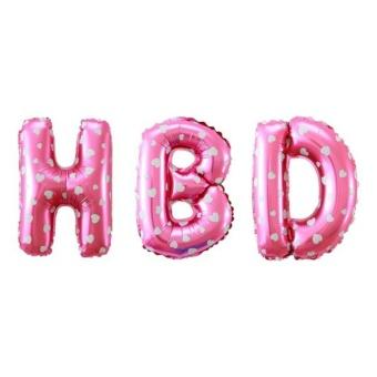 foil balon huruf HBD-pink motif love