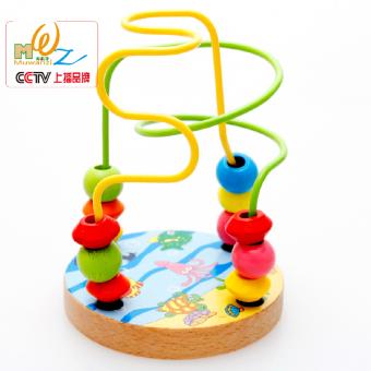 Kayu Mainan perangsang otak Gantungan mutiara Mainan Balok anak laki-laki Bayi perempuan pendidikan usia