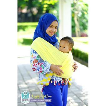 Cek Harga Baru Geos 2in1 Instant Baby Wrap Yellow Kuning Terang