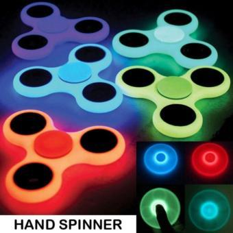 ... Happy GLOW IN THE DARK Fidget Spinner Hand Spinner Hand T1oys Focus Games Mainan Spinner