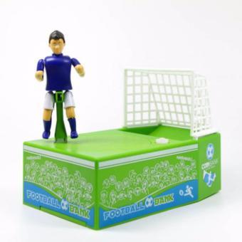 Hoshizora Soccer Football Player Goal Kicking Coin Bank Saving Box Piggy Bank - Sepak Bola -