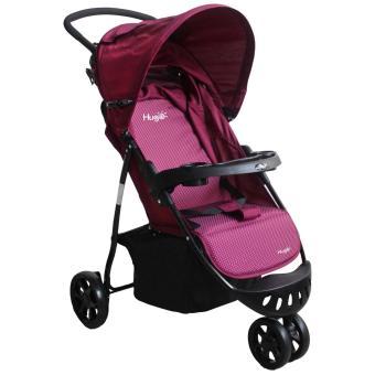 harga Hugo Starlight - Baby stroller/Kereta Dorong Bayi 3 Roda -  Ungu putih Lazada.co.id