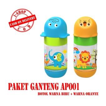 i-shop PAKET GANTENG Baby Safe Botol Susu Bayi 125 ml (Biru dan Oranye