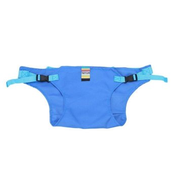 Harga LALANG Children's Lunch Portable Seat Dining Chair Seat Belt Skyblue