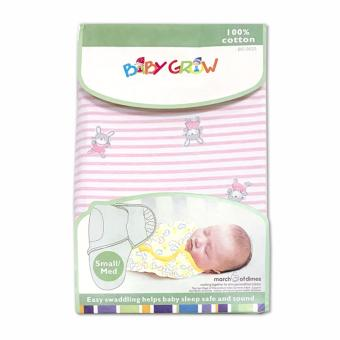 Harga Baby Grow Swaddle Bedong Instant - Rabbit Stripe