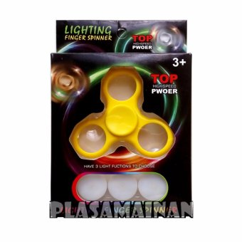 Harga AA Toys LED Lighting Finger Spinner Kuning - Spinner Hand Toys