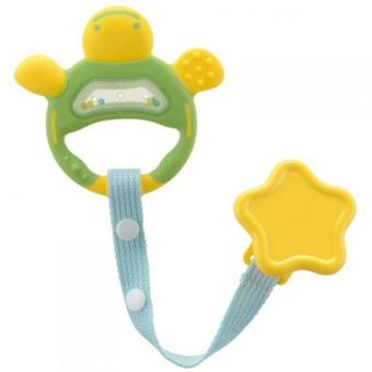 Harga Richell Baby Teether Green with Holder