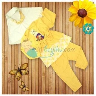 Harga Kiddie Wear Moslem Masha And The Bear Size M Color Yellow For Girls Age 6M - 9M