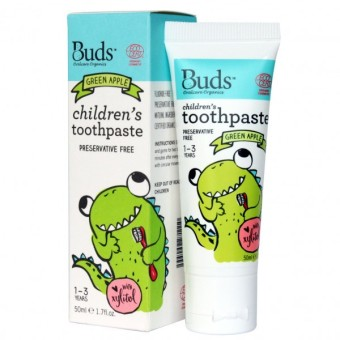 Harga Buds Children's Toothpaste Green Apple 1- 3 Year - 50ml