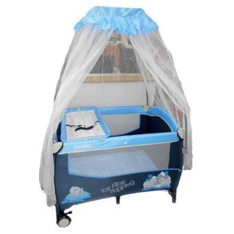 Harga Does Baby Box 4 Tiang - Biru - DS172