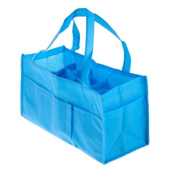Harga Portable Baby Diaper Nappy Changing Organizer Insert Storage Bag Tote Outdoor(Blue) - intl