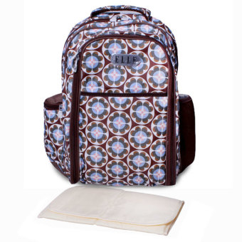 Harga Elle Diaper Bag Tribal Backpack + Diaper Changing Matt - Cokelat
