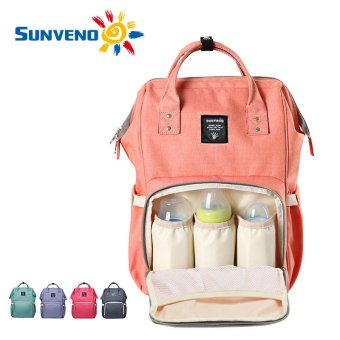 Harga Sunveno Fashion Mummy Maternity Nappy Bag Brand Large Capacity Baby Bag Travel Backpack Desinger Nursing Bag for Baby Care - intl