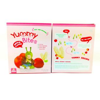 Harga Yummy Bites Rice Crackers 50 Gr Apple Flavour - Biskuit Yummy Bites Rasa Apel 50 Gr