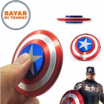 Fidget Spinner Premium Focus Hand Toys Captain America Metal Shield