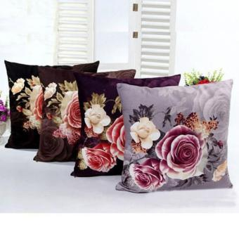 Harga 2017 New Arrival Fashion Home Decor Cushion Cover Printing Dyeing Peony Sofa Bed Wedding Decoration Pillow Case - intl