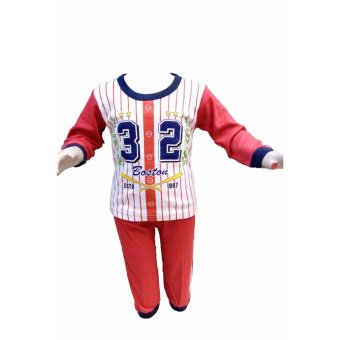Timmy Kids Piyama Boston32 Red S