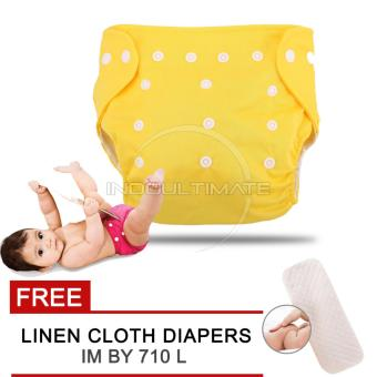 Harga Cloth diaper / Cloth diapers / Clodi Popok Kain Bayi BY 72 / Pampers Kain YELLOW + FREE INSERT
