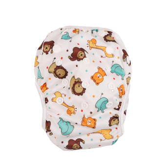 Harga YingWei New Adjustable Size Waterproof Reusable Baby Swimming diapers Lion