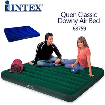 Harga Intex Queen Classic Downy Airbed - Green