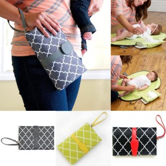 Harga Baby Nappy Diaper Changing Change Clutch Mat Foldable Pad Handbag - intl