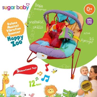Harga Sugar Baby Bouncher 1 Recline Happy Zoo - BBC017